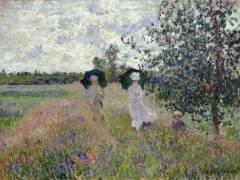 Promenade près d'Argenteuil (Claude Monet) - Muzeo.com