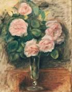 Roses dans un verre (Renoir Auguste) - Muzeo.com