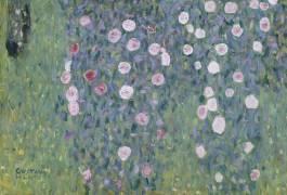 Rosiers sous les arbres, détail (Gustav Klimt) - Muzeo.com