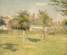 Soleil de printemps dans le pré à Eragny (Camille Pissarro) - Muzeo.com