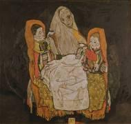 Une mère et ses deux enfants (Schiele Egon) - Muzeo.com