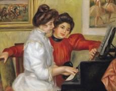 Yvonne et Christine Lerolle au piano (Renoir Auguste) - Muzeo.com
