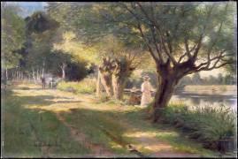 Bord de rivière (Gelhay Edouard) - Muzeo.com