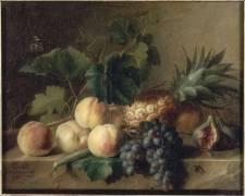 Nature morte aux pêches et à l'ananas (Cornelius van Spaendonck) - Muzeo.com
