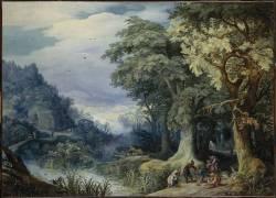 Attaque à main armée dans un bois (Paul Bril) - Muzeo.com