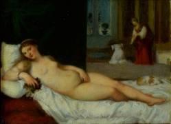 Copie d'après Titien : la Vénus du Pardo (Henner Jean Jacques,D'après...) - Muzeo.com