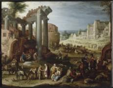 Marché dans le Campo Vaccino à Rome (Bril Paul) - Muzeo.com