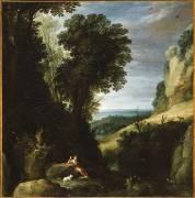 Paysage avec saint Jean-Baptiste (Paul Bril) - Muzeo.com