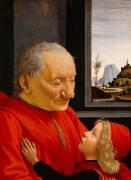 Portrait d'un vieillard et d'un jeune garçon (Ghirlandaio Domenico) - Muzeo.com