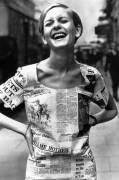 Mode annees 1960 : le mannequin anglais Twiggy (Anonyme) - Muzeo.com