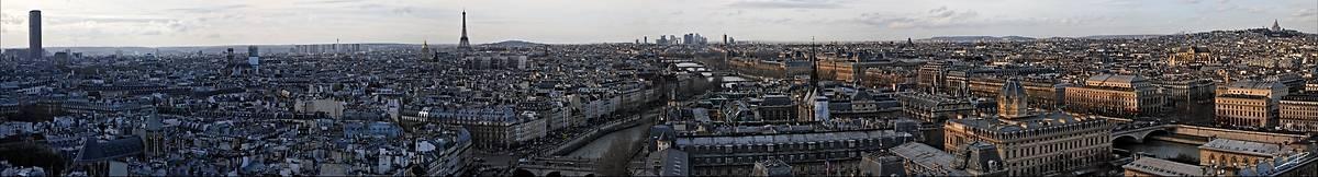 Panorama de Paris depuis Notre Dame (Jérome Prince) - Muzeo.com