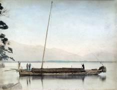 Bateau sur un lac (Kusakabe Kimbei) - Muzeo.com