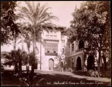 Ambassade de France au Caire, vue prise du jardin (Félix Bonfils) - Muzeo.com