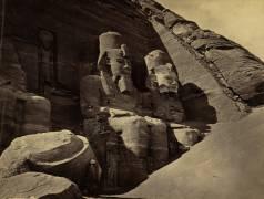 Façade du Grand Temple d'Abu Simbel (Francis Frith) - Muzeo.com