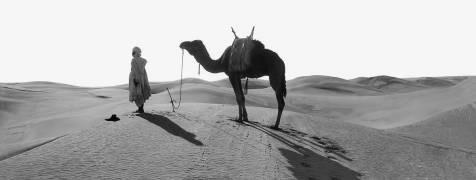 La prière au désert dans le Sahara algérien. (Léon et Lévy) - Muzeo.com