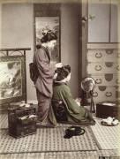 Hairdressing, Japan, c.1880 (Kusakabe Kimbei) - Muzeo.com